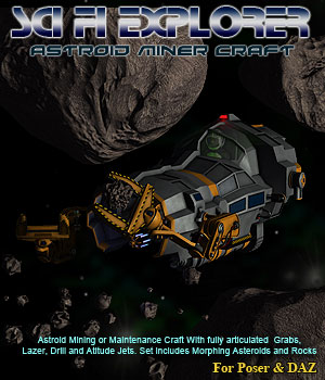 Space Asteroid Miner 3D Models Simon-3D