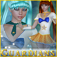 Guardians for Navy Star 3D Figure Assets Sveva
