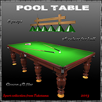 Pool table 3D Models tuketama