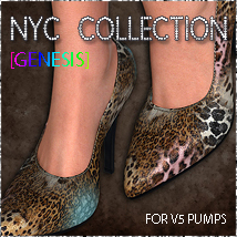 NYC V5 Pumps Genesis 3D Figure Essentials 3DSublimeProductions