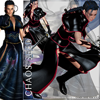 Chaos Seed Outfit & 11 Poses for V4 image 6