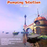 Pumping Station 3D Models 1971s