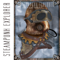 Steam Punk Explorer 3D Figure Assets orion1167