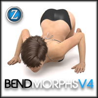 Bend Morphs for V4 3D Figure Essentials Zev0