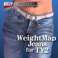 TY2 WeightMap Jeans 3D Figure Essentials billy-t