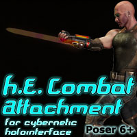 H.E. Combat Attachment Accessories Themed Cybertenko