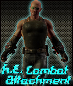 H.E. Combat Attachment 3D Models 3D Figure Assets Cybertenko
