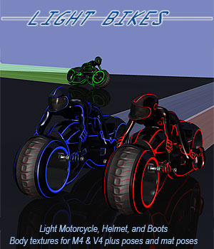 Light Bikes 3D Models 3D Figure Assets Extended Licenses Simon-3D