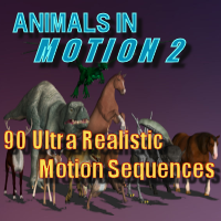 Animals in Motion 2 3D Models 3D Figure Assets farsunset