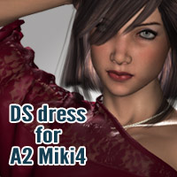 DS dress for A2Miki4 3D Figure Assets kobamax