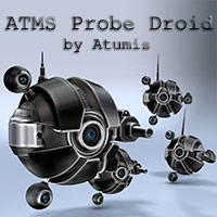ATMS Probe Droid Transportation Stand Alone Figures Themed atumis