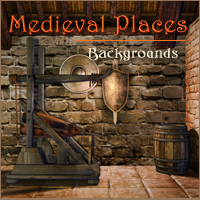 Medieval Places 2D 3D Models 3D Figure Essentials -Melkor-