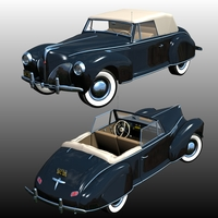 LINCOLN ZEPHYR COUPE CONVERTIBLE 1940 (for Poser) 3D Models Nationale7