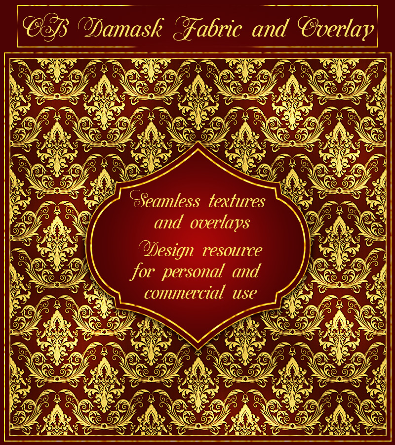 OB Damask Fabric and Overlay