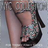 NYC ThinkyPinky Shoes 3D Figure Essentials 3DSublimeProductions