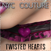 NYC Couture Twisted Hearts Accessories 3DSublimeProductions