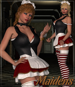 MAIDENS for French Maid Uniform 3D Figure Assets Anagord