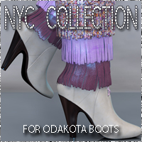 NYC Odakota Boots Footwear 3DSublimeProductions
