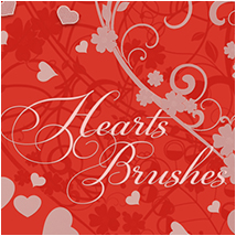 Hearts Brushes 2D And/Or Merchant Resources Themed Atenais