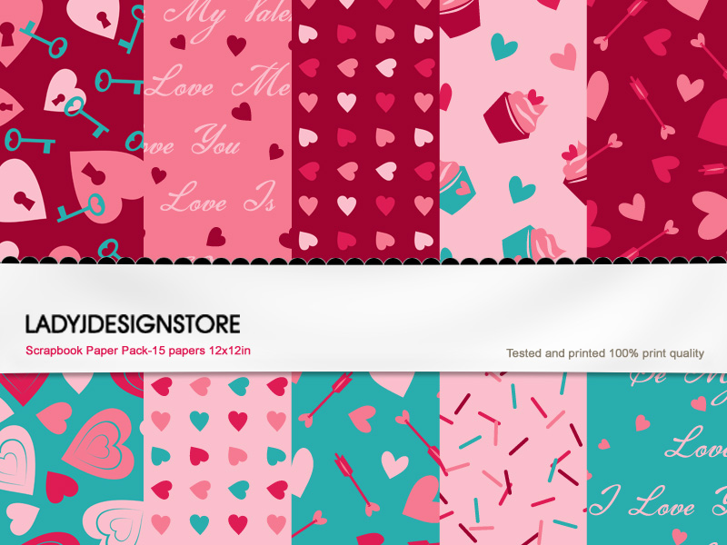 Digital Texture or Paper Pack  – Sweet Valentine!