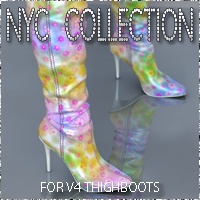 NYC ThighBoots V4 Footwear 3DSublimeProductions