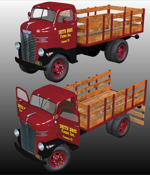 DODGE CABOVER STAKE BED 1939-1947(for Poser) 3D Models 3DClassics