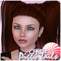 Candy Piggy Tails Hair Themed Sveva