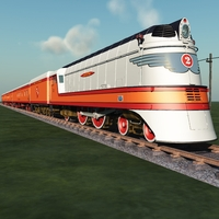 HIAWATHA TRAIN 1935-1951 ( bundle for Vue ) Software 3D Models Nationale7
