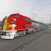 SANTA FE SUPER CHIEF 1945-1953 (bundle for Vue) Software 3D Models Nationale7