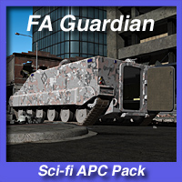 FA Guardian APC Pack 3D Models fireangel