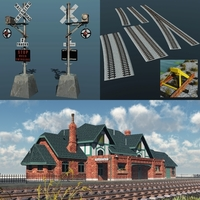 RAILWAY BUNDLE ( for Vue ) 3D Models 3DClassics