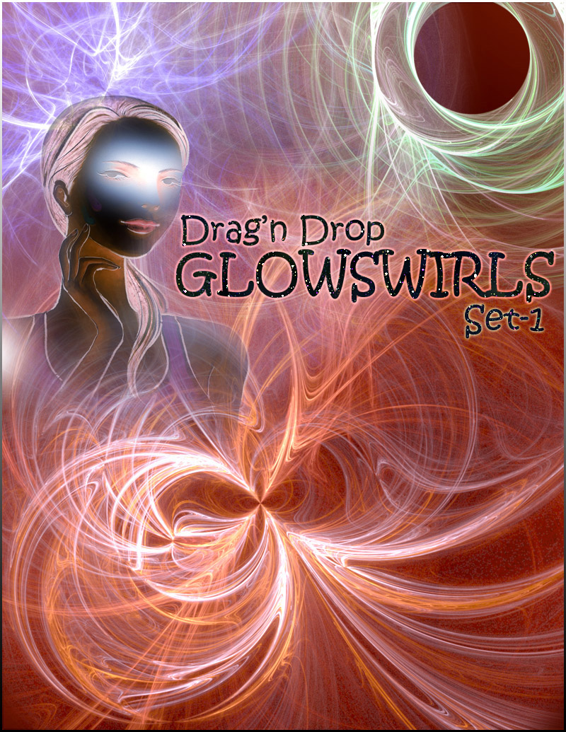 Drag-n-Drop_GLOWSWIRLS Set-I