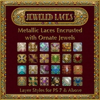 Jeweled Laces Layer Styles 2D 3D Models fractalartist01