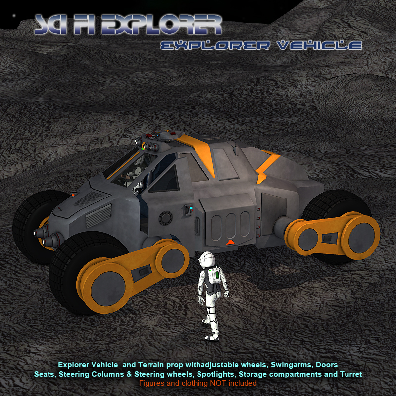 Scifi Explorer Vehicle