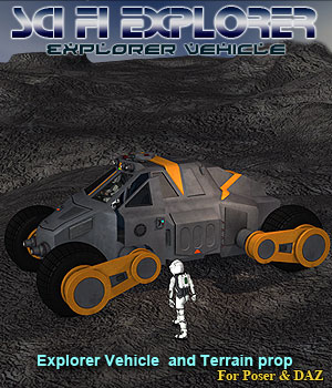 Scifi Explorer Vehicle 3D Models Simon-3D