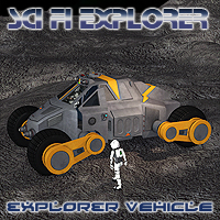 Scifi Explorer Vehicle Themed Transportation Props/Scenes/Architecture Software Simon-3D