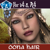 Oona Hair For V4 And A4 Themed Software Hair EmmaAndJordi