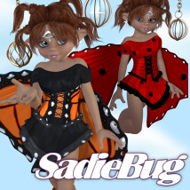 SadieBug Clothing Themed Stand Alone Figures JudibugDesigns