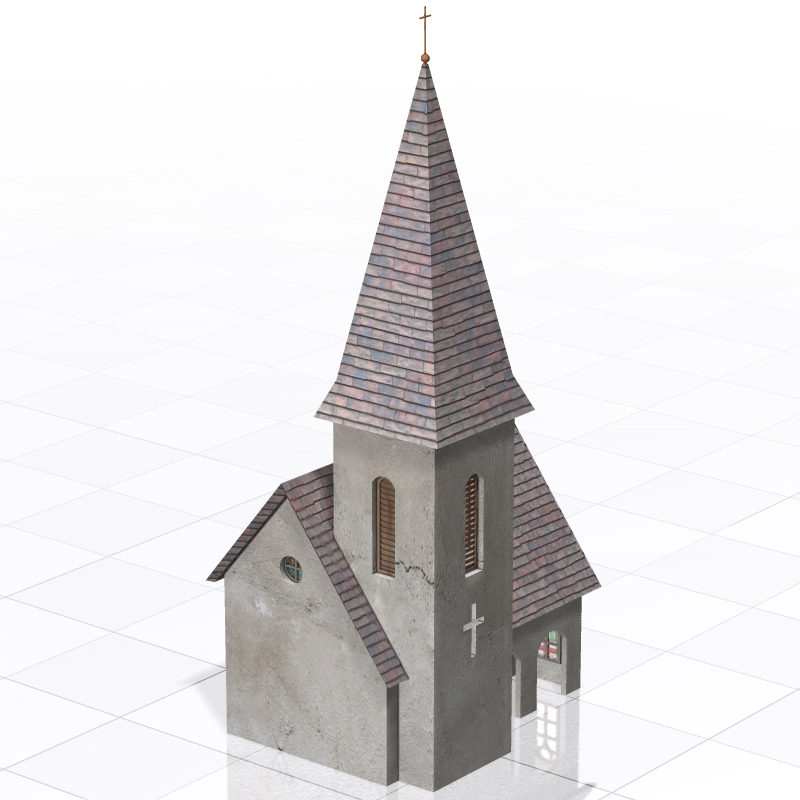 Chuch DMB (for Poser, 3ds/obj, Vue)