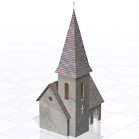 Chuch DMB (for Poser, 3ds/obj, Vue)  Digimation_ModelBank
