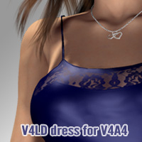 V4LD dress for V4A4 3D Figure Assets kobamax