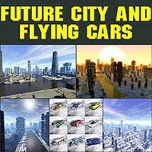 Future city and flying cars Themed Software duo