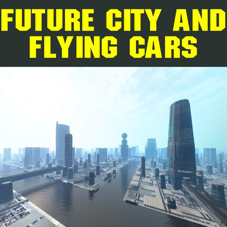Future City And Flying Cars 3D Models 3D Figure Essentials Duo