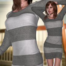 Sweater I for V4A4G4 3D Figure Essentials RainbowLight