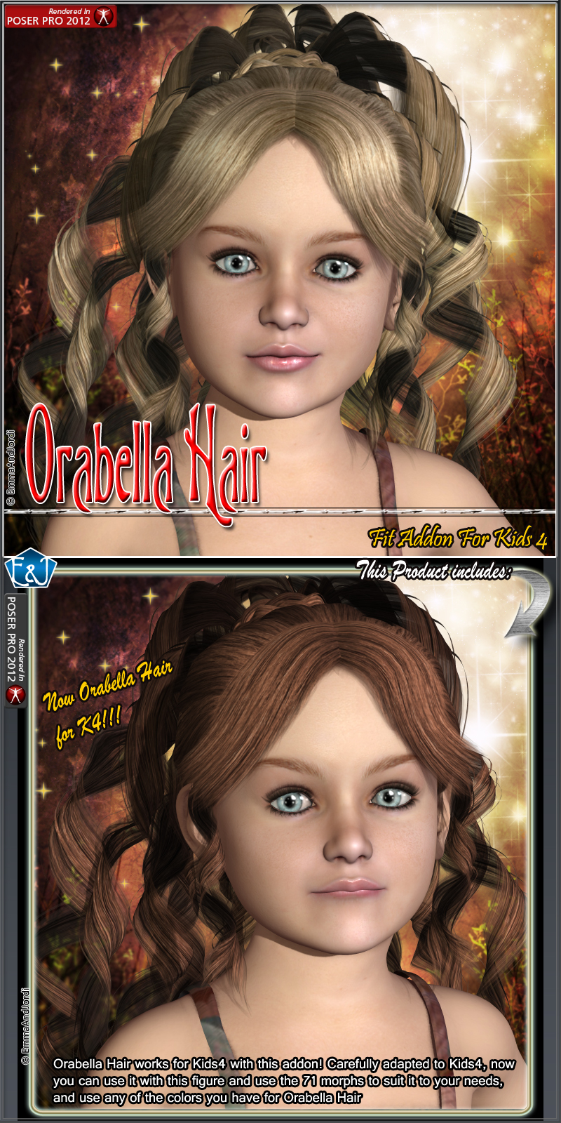 Kids4 Fit Addon For Orabella Hair