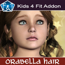 Kids4 Fit Addon For Orabella Hair 3D Figure Assets EmmaAndJordi