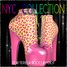 NYC Teresa Boots 3D Figure Essentials 3DSublimeProductions