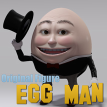 Egg Man 3D Figure Assets 3D Models MayaX