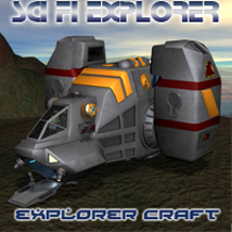 Scifi Explorer Craft Props/Scenes/Architecture Transportation Themed Simon-3D