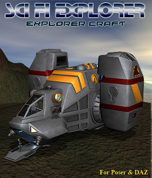 Scifi Explorer Craft 3D Models Simon-3D